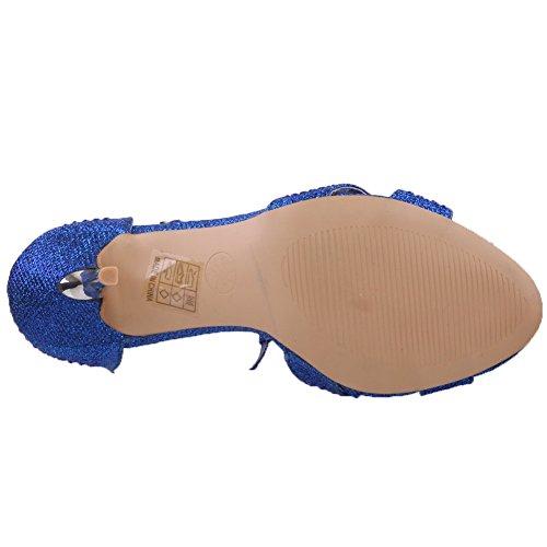 Unze Mujeres Mishka ' arco acentuó sandalias Armada