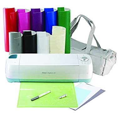 Cricut Explore Air Machine Bundle with Adhesive Rainbow Vinyl & Transfer paper