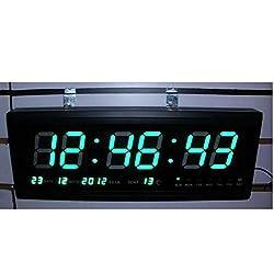 Denshine Digital Large Big Jumbo LED Wall Desk Clock Calendar Temperature