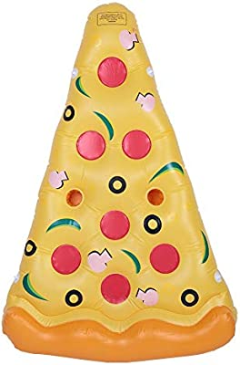 Lhh Piscina Flotador Gigante Pizza Slice Hinchable Pool Cama PVC ...
