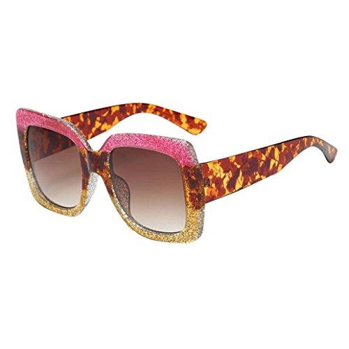 Espejo Gafas cuadradas Clásico de unisex sol grande Marca Brillo Portección Sunglass Lentes Mujer Moda sol F UV Gafas clásica Gafas Sol Polarizado Marco de de 6Cq4ntw
