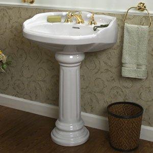Barclay 3-758WH Victoria Pedestal Sink