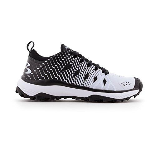Boombah Hombres Squadron Turf Zapatos - 20 Opciones De Color - Varios Tamaños Negro / Blanco