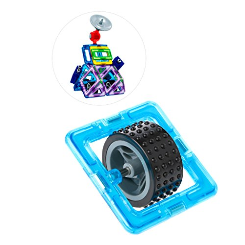 puhoon Stacking Blocks Toy, Magnetic Building Block Single Wheel Designer Construction Brick Matched Toy , Great for Kids Education Party Set, 13# ()