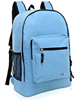 MGgear® 17.5 Inch Kids Black School Book Bag / Lightweight Outdoor Backpack