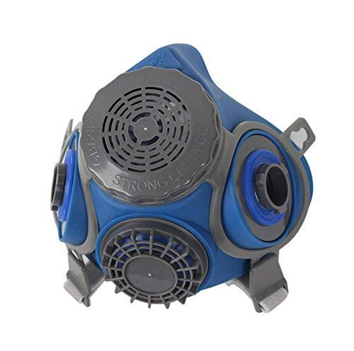 Induschoice Half Facepiece Reusable Respirator Spray Paint Pesticide Respirator Respiratory Protection Dual Cartridges Gas Mask,Medium(Mask+1 Pair Cartridges) by Induschoice (Image #2)