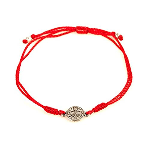 Red Breathe Bracelet. Red Cotton Cord Bracelet Is Complimented By a Benedictine Medal, Which Is One of the Most Powerful Symbols of Protection. Each Bracelet Comes Displayed on a Card with Its Story and the Reminder of the Power of Prayer. In Time of Need, Run Your Finger Along the Simple String; Grasp the Medal and Breathe. By Simply Focusing Our Attention on Taking a Breath and Linking That Breath to God, We Can Dispel the Chaos of the - God Prayer Card
