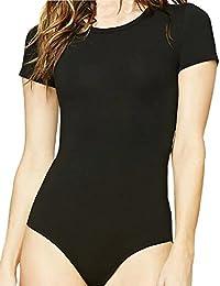 Women's Round Neck T Shirts Basic Bodysuits