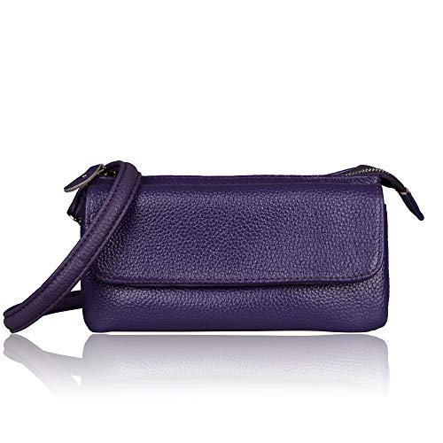 Crossbody Wristlet Wrist Purple Clutch Leather Small Strap Strap Befen Wallet Shoulder Slots Smartphone with Card xHgInSw