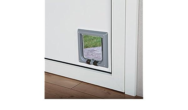 Puerta para gatos TRIXIE Gatera para puertas 4 posiciones: Amazon.es: Productos para mascotas