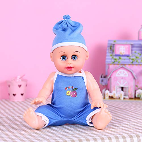 Cute Baby Doll Playsets with Blinking Eyes Movable Arms & Legs Simulation Sounds Kids Toy, Large Simulation Doll, Educational Dolls
