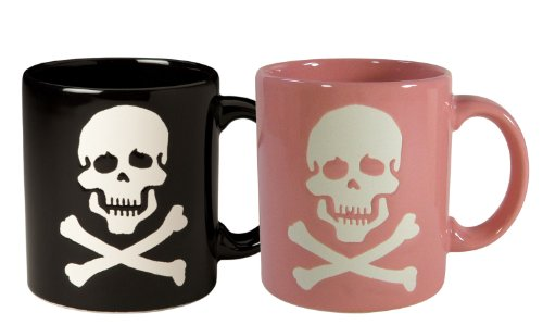 Waechtersbach Mugs, His and Her Skull Black/Pink, Set for sale  Delivered anywhere in USA
