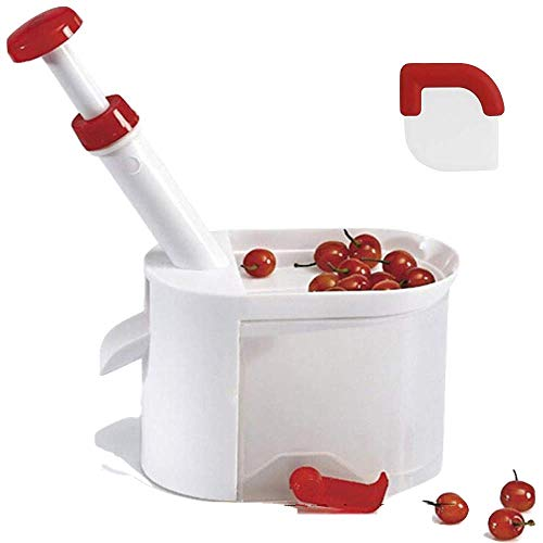 Cherry Pitter Tool By Culina Box-Seed Pitter-Keeps All Seeds Clean In One Container With No Stain On Your Kitchen Counter No Matter How Much Bunch Of Cherries You Seed OutThat Comes With Pan Scraper (Trick To Getting Cake Out Of Pan)