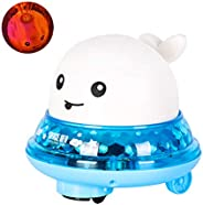 OZS Baby Bath Toys, 2 in 1 Bathroom Spray Water Toy Automatic Induction Whale Sprinkler with LED Light Musical