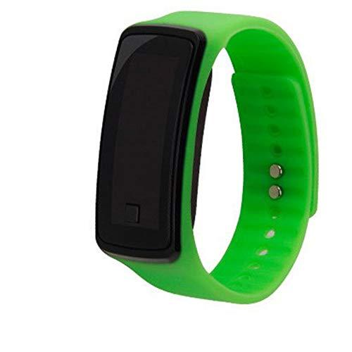 Moda Gel de Silicona para niños Reloj LED Digital Reloj Deportivo Ligero Reloj Unisex Hombre Mujer Pulsera - Verde: Amazon.es: Relojes