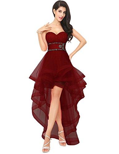 pour spciales femmes AJ014 Robes Bordeaux Rouge bal Clearbridal Occasions wZBxIRqnY