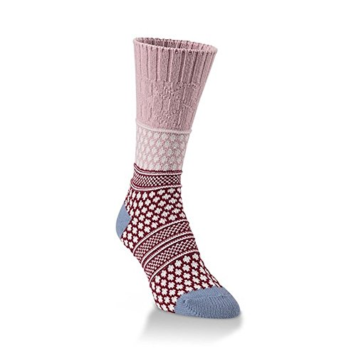 World's Softest Socks, Weekend Collection, Gallery Textured Crew, Adobe Rose -