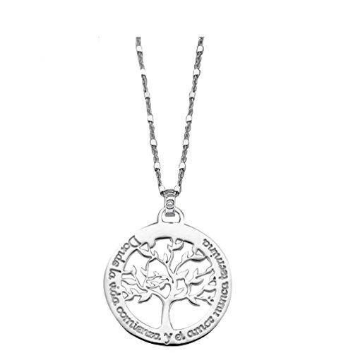 Lotus Silver Collar Árbol de la Vida LP1641-1/1 LP1641-1/1, Gris a buen precio