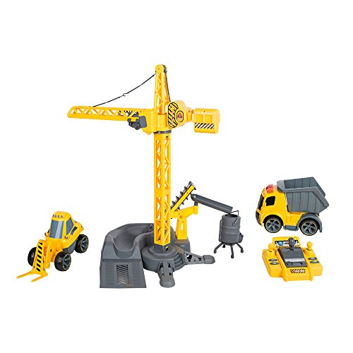 COLORTREE Remote Control Crane Tower Truck Gift For Kids