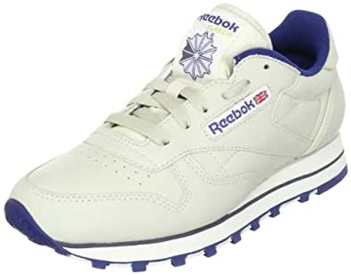 Reebok Women's Classic Leather Trainers, Ecru/Navy, 5.5 US