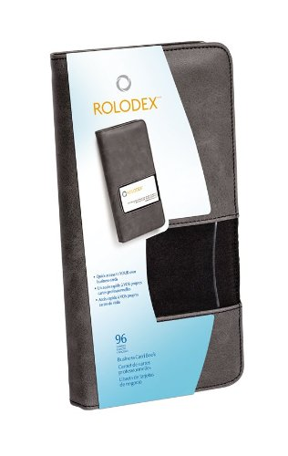 (Rolodex Identity Collection Fabric Business Card Book, 96-Card, Black (1752535) )