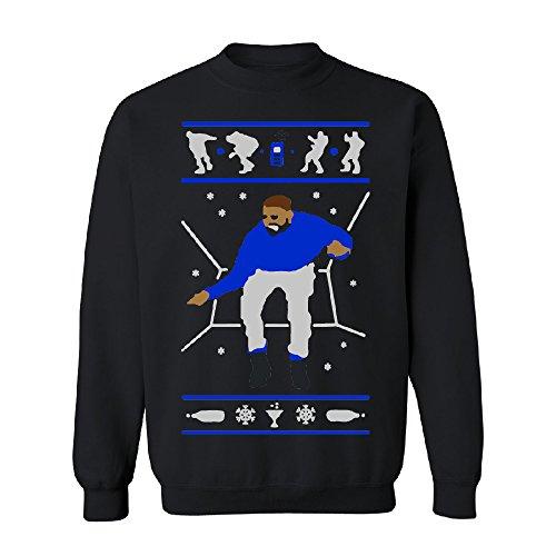 1800 Hotline Bling Dance Unisex Crewneck Drake Ugly Xmas Sweater (1) Sweater Black -