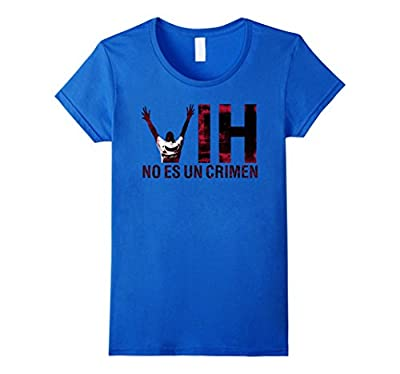 Spanish HIV is Not A Crime T Shirt No Es Un Crimen Mix Color