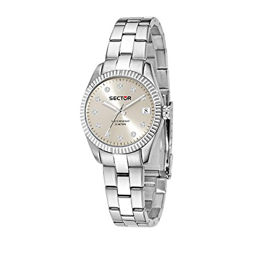 SECTOR Women's 240 Analog-Quartz Sport Watch with Stainless-Steel Strap, Silver, 18 (Model: R3253579524
