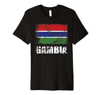 Amazon.com: Gambia Flag T-Shirt | Gambian Flag Tee: Clothing