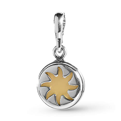 (Carolyn Pollack Sterling Silver Yellow Mother of Pearl Sun Charm or Pendant )
