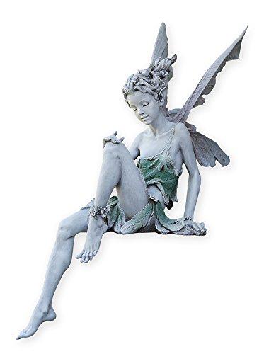 """Napco 11235 Sitting Fairy Garden Statue, 24"""""""