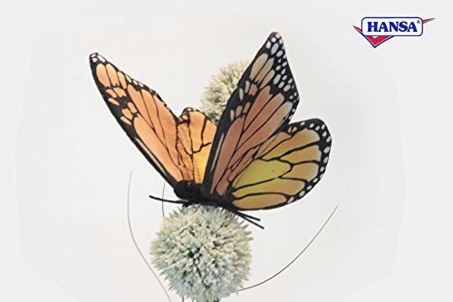 Monarch Butterfly Soft Toy by Hansa 14cm. 6551 by Hansa