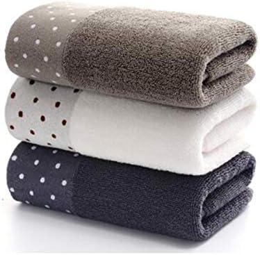 CQIANG 綿タオル、3セットの柔らかい吸収性の増粘、家庭用大人用ウォッシュタオル、ハンドタオル (Color : B)