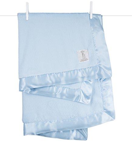 "Little Giraffe Luxe Stroller Baby Blanket, Blue, 29"" x 35"""