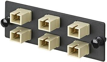 Electric Ivory Panduit FAP6WEIDSC Multi-Mode 6-Port Fiber Adapter Panel with Phosphor Bronze Split Sleeve