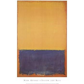 Violet Black Orange Yellow on White and Red 1949 Mark Rothko Print Poster 26x36