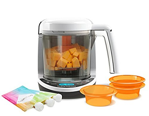 Baby Brezza Small Baby Food Maker Set - Steamer and Blender In One – Mix or Puree Baby Food for Pouches - Make Organic Food for Infants and Toddlers - Includes 3 Pouches and 3 Funnels by Baby Brezza (Image #2)