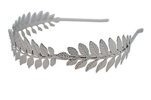 [Greek Goddess Silver Leaf Crown High Fashion Prom Wedding Hairband Women] (Roman Goddess Accessories)