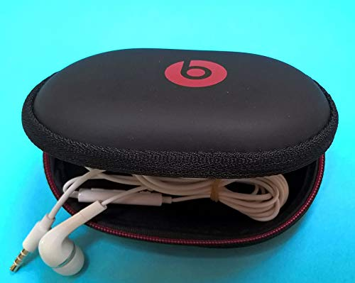 in-Ear Earphone Carrying Case for Monster Beats : BeatsX, iBeats,Tour, Heart Beats by Lady Gaga, Diddy Beats, Gratitude, DNA, Diesel VEKTR, iSport Victory, iSport Immersion. with Free 4 eargels. (Free Case Monster)