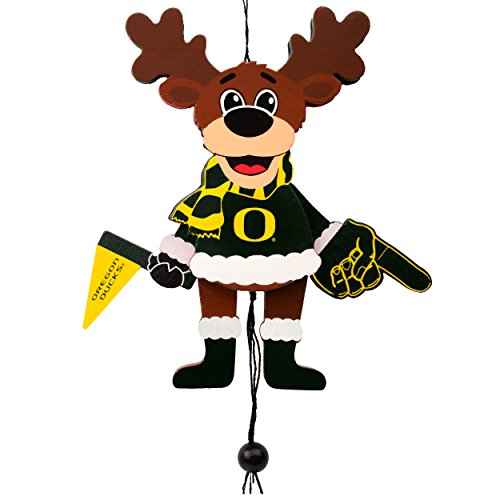 Forever Collectibles Oregon Ducks Official NCAA Holiday Christmas Ornament Cheering Reindeer by 498698 ()