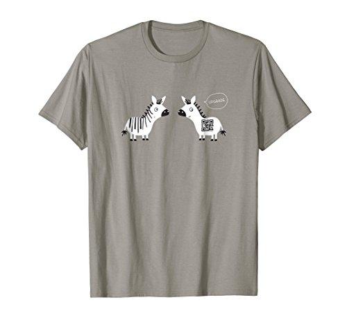 Barcode vs QR Code Shirt Upgrade Tee Computer Zebra (Orange Upgrade T-shirt)