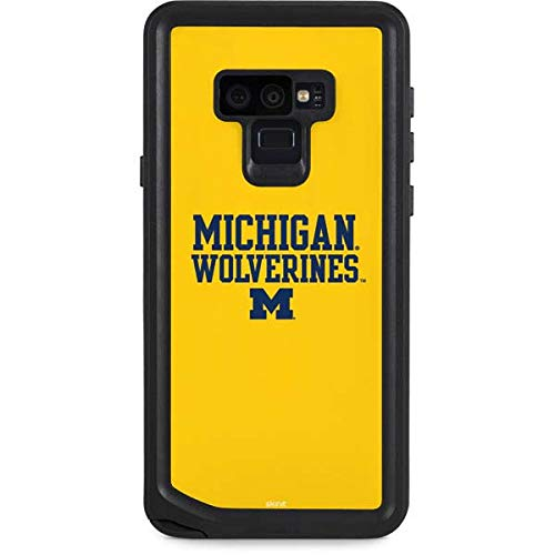 Skinit University of Michigan Galaxy Note 9 Waterproof Case - Michigan Wolverines Design - Sweat-Proof, Snow-Proof, Dirt-Proof, Dust-Proof Phone Cover