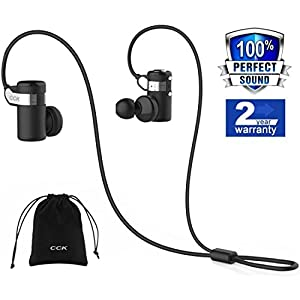 Bluetooth Headphones Wireless Earbuds Sports Best Running Earphones Hi-Fi Stereo Noise Cancelling Sweatproof for Gym Workout Exercising In Ear Headsets Computer iphone Android (Black)