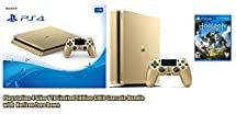 Playstation 4 Slim 1 TB Limited Edition Gold Console Bundle with Horizon Zero Dawn