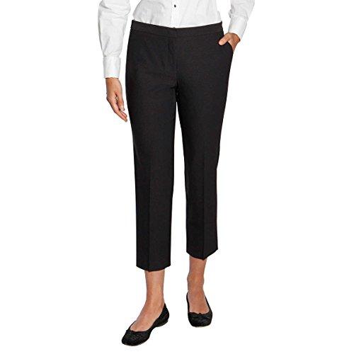 Mario Serrani Ladies Dress Pant with Stretch (12 X 27, Black Gray)