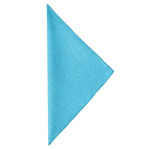 Ultimate Textile (60 Dozen) Faux Burlap - Havana 10 x 10-Inch Napkins - Basket Weave, Turquoise Blue by Ultimate Textile