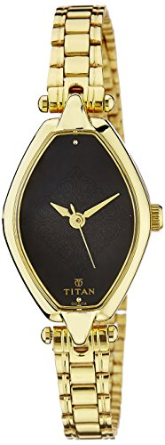 Titan Karishma Analog Black Dial Women's Watch -2522YM02