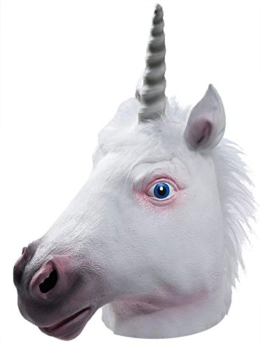 Unicorn Latex Mask, One Size (Horse Fancy Dress Ideas Halloween)