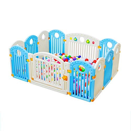 - ETWLLZX Baby Fence, Large Detachable Play Fence, Toddler Crawling Outdoor Family Room Divider Safety Fence