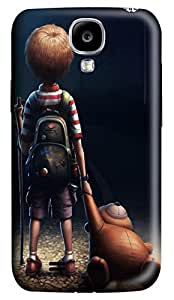 Brian114 Samsung Galaxy S4 Case, S4 Case - 3D Print Pattern Hard Cover for Samsung Galaxy S4 I9500 Loneliness Extremely Protective Case for Samsung Galaxy S4 I9500